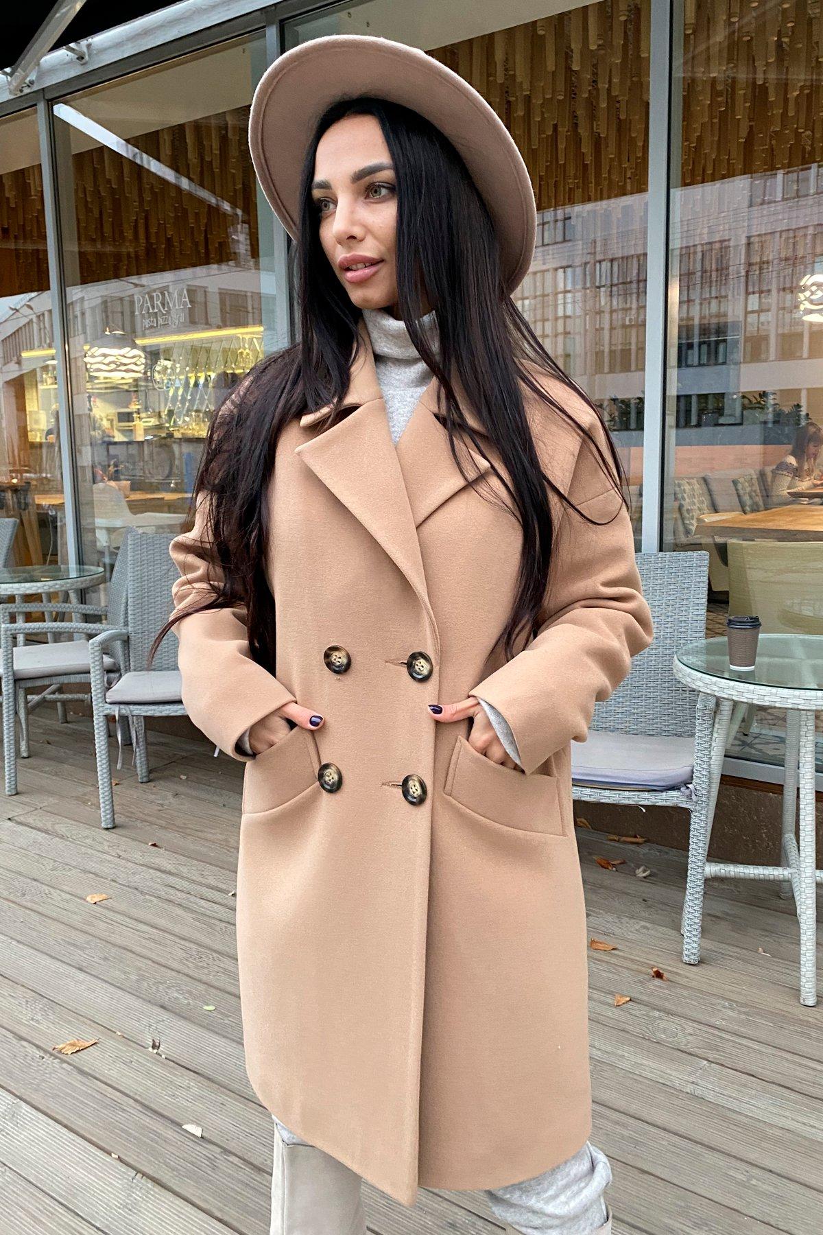 Сенсей кашемир турецкий зима пальто 10043 АРТ. 46336 Цвет: Кемел - фото 3, интернет магазин tm-modus.ru