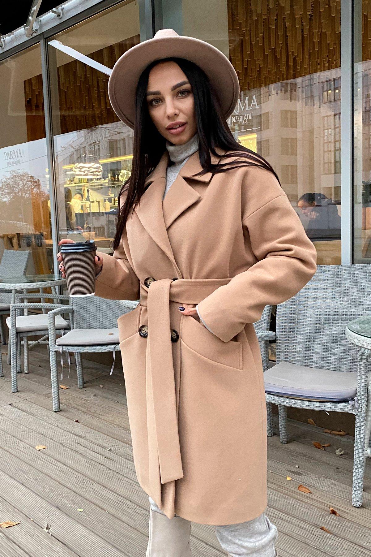 Сенсей кашемир турецкий зима пальто 10043 АРТ. 46336 Цвет: Кемел - фото 5, интернет магазин tm-modus.ru