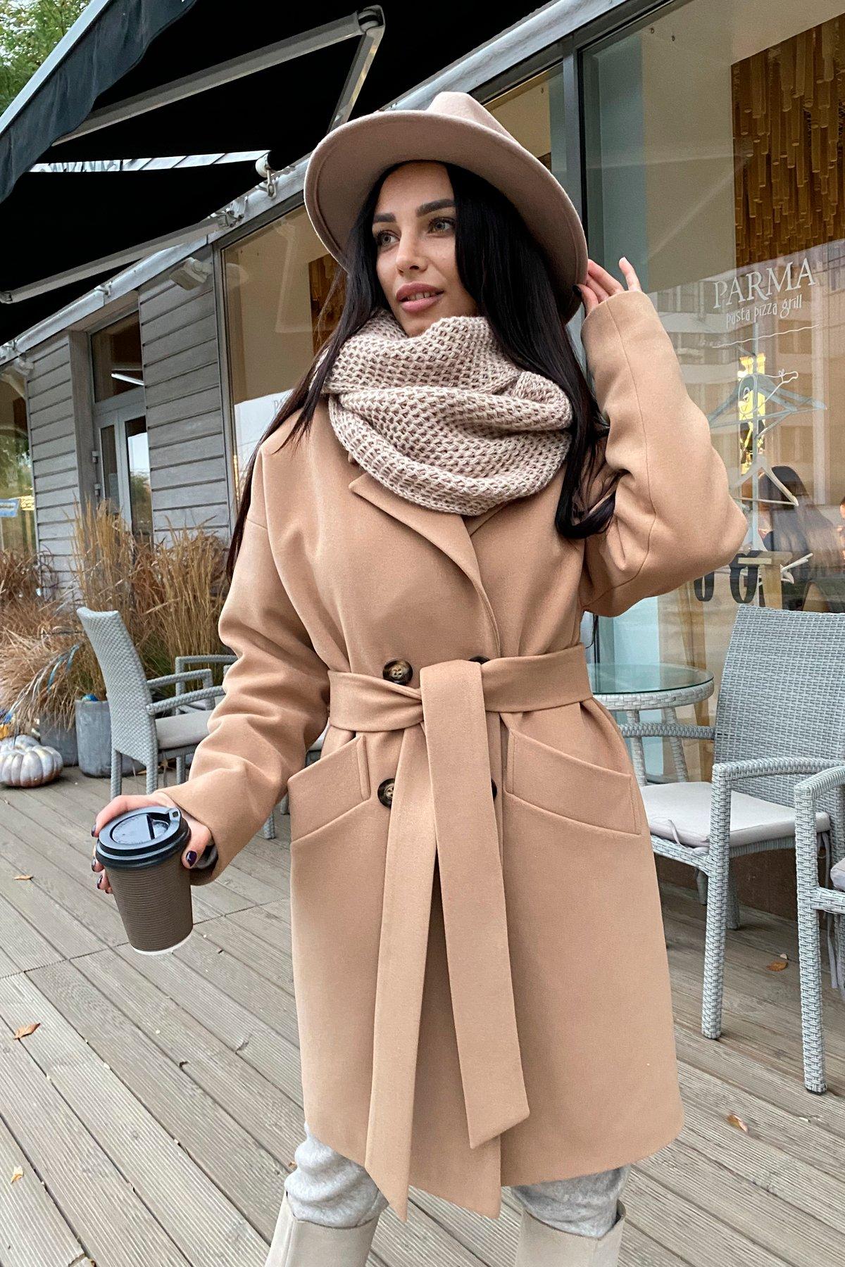 Сенсей кашемир турецкий зима пальто 10043 АРТ. 46336 Цвет: Кемел - фото 6, интернет магазин tm-modus.ru