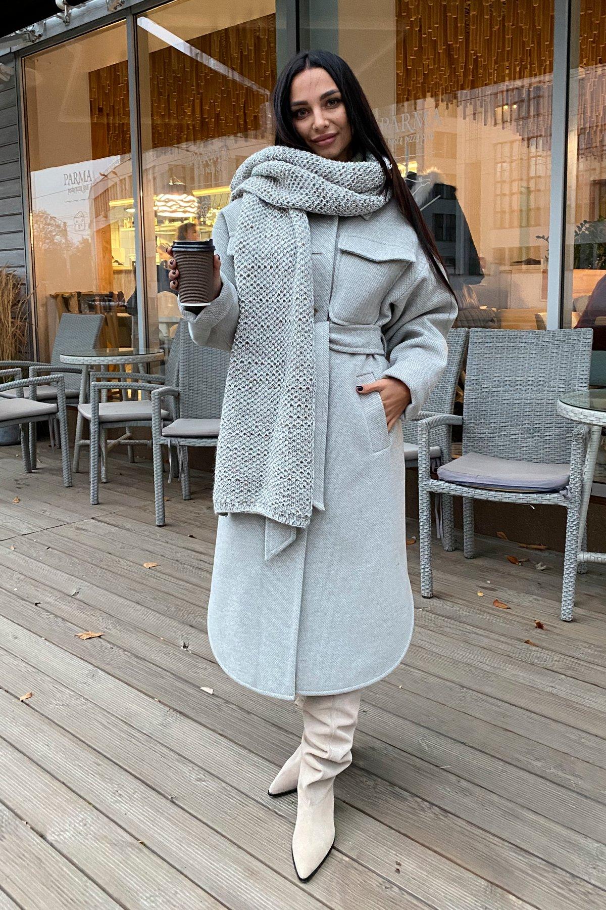 Ола флеш пальтовая ткань зима пальто 9973 Цвет: Олива