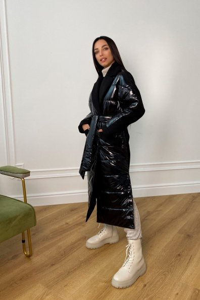 """Купить """"Санре"""" утепленное пальто из комбинации плащевой и пальтовой ткани 9940 оптом и в розницу"""