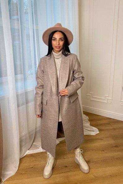 Купить Саммит кашемир меланж на трикотаже пальто 9999 оптом и в розницу