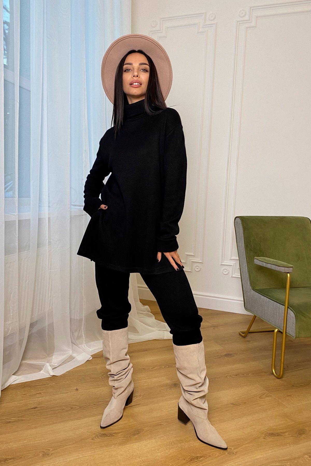 Люкс прогулочный костюм  из ангоры  9975 АРТ. 46312 Цвет: Черный - фото 5, интернет магазин tm-modus.ru