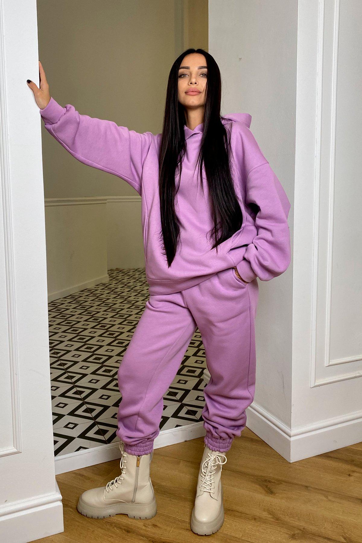 Марион костюм в  стиле Oversize  3х нитка 9651 АРТ. 46356 Цвет: Лаванда/1 - фото 3, интернет магазин tm-modus.ru