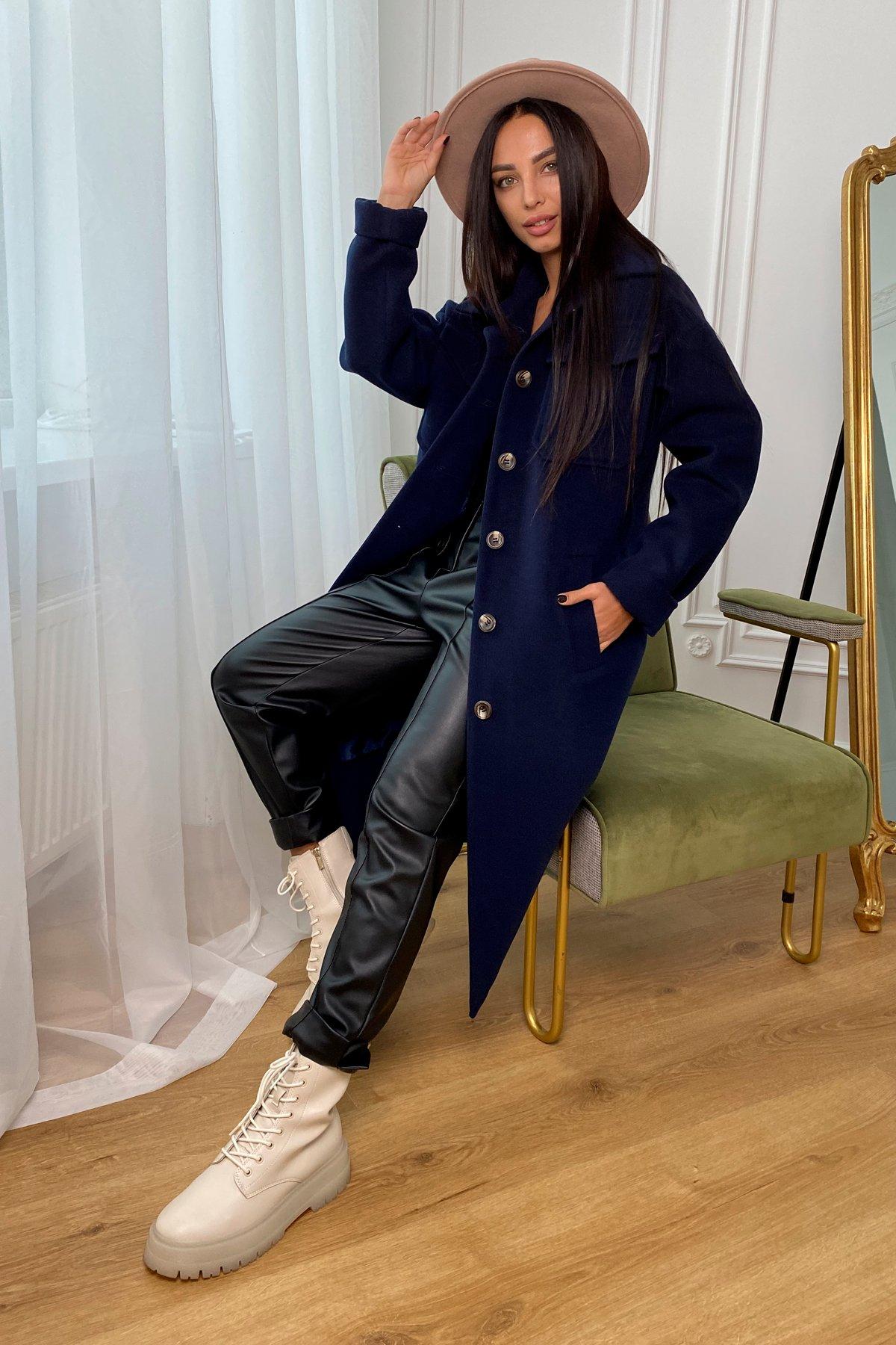 Ола кашемир китай пальтовая ткань зима пальто 9987 АРТ. 46285 Цвет: т. синий - фото 2, интернет магазин tm-modus.ru