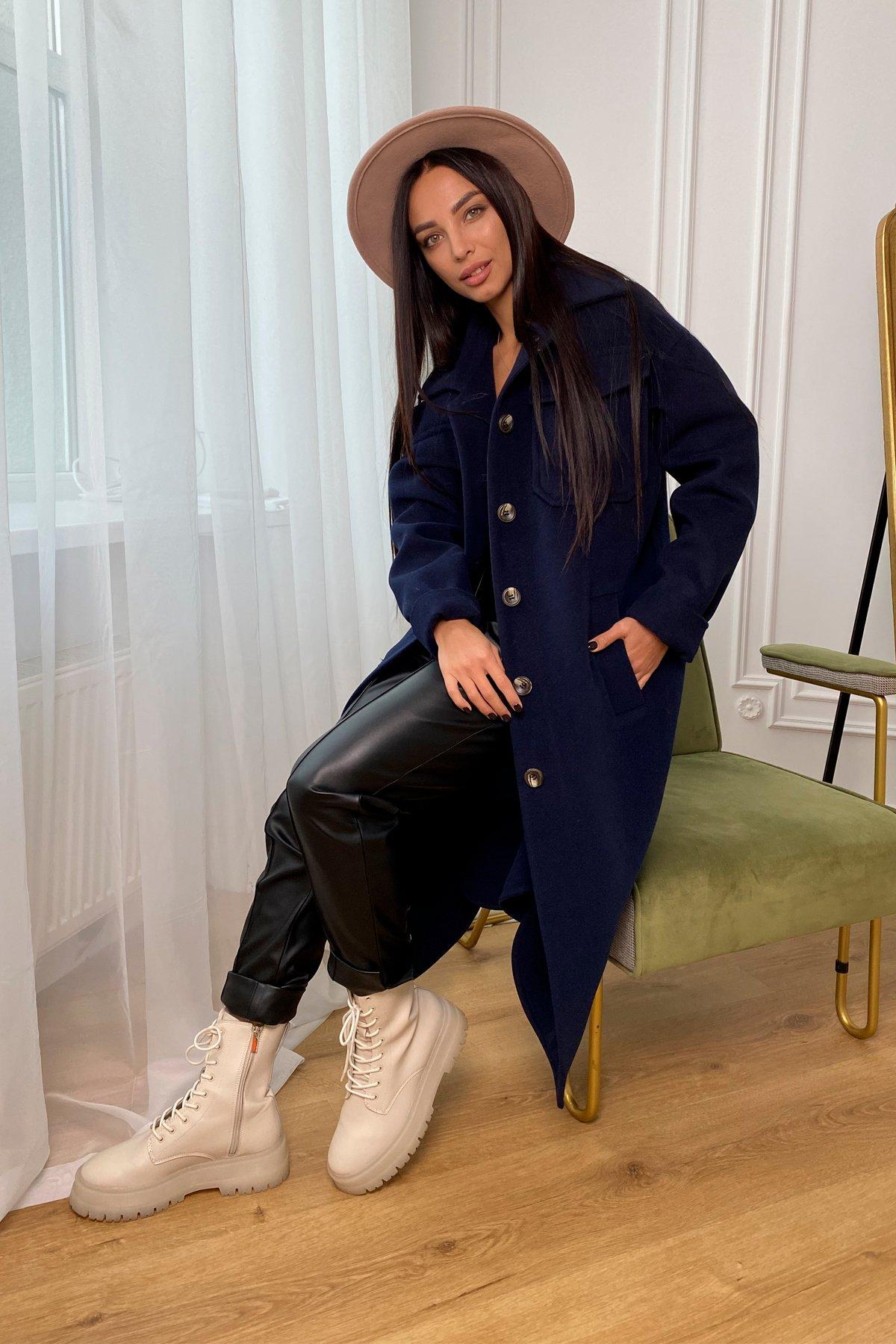 Ола кашемир китай пальтовая ткань зима пальто 9987 АРТ. 46285 Цвет: т. синий - фото 3, интернет магазин tm-modus.ru
