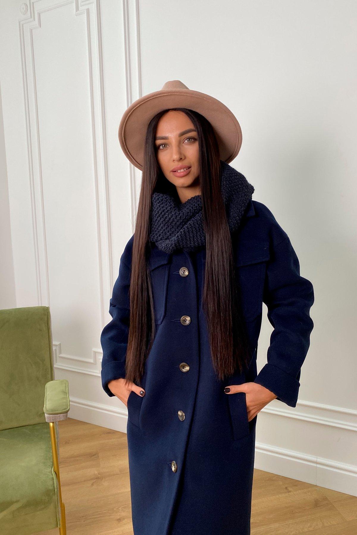 Ола кашемир китай пальтовая ткань зима пальто 9987 АРТ. 46285 Цвет: т. синий - фото 4, интернет магазин tm-modus.ru