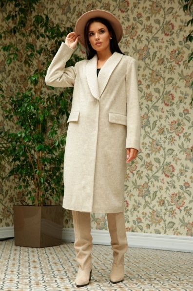 Саммит клетка комби пальтовая ткань пальто 9782