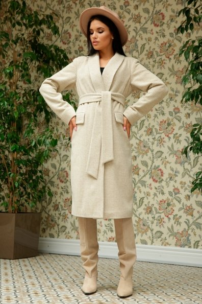 Купить Саммит клетка комби пальтовая ткань пальто 9782 оптом и в розницу