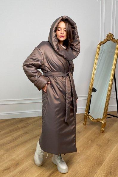 """Купить """"Берлин"""" пальто зимнее из плащевой ткани, стеганое 10082 оптом и в розницу"""