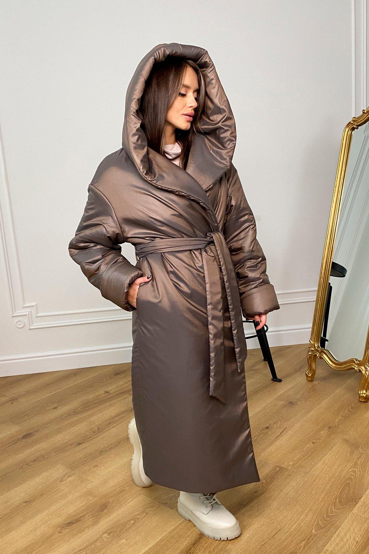 Берлин пальто зимнее из плащевой ткани, стеганое 10082 АРТ. 46395 Цвет: Шоколад/хамелеон - фото 6, интернет магазин tm-modus.ru