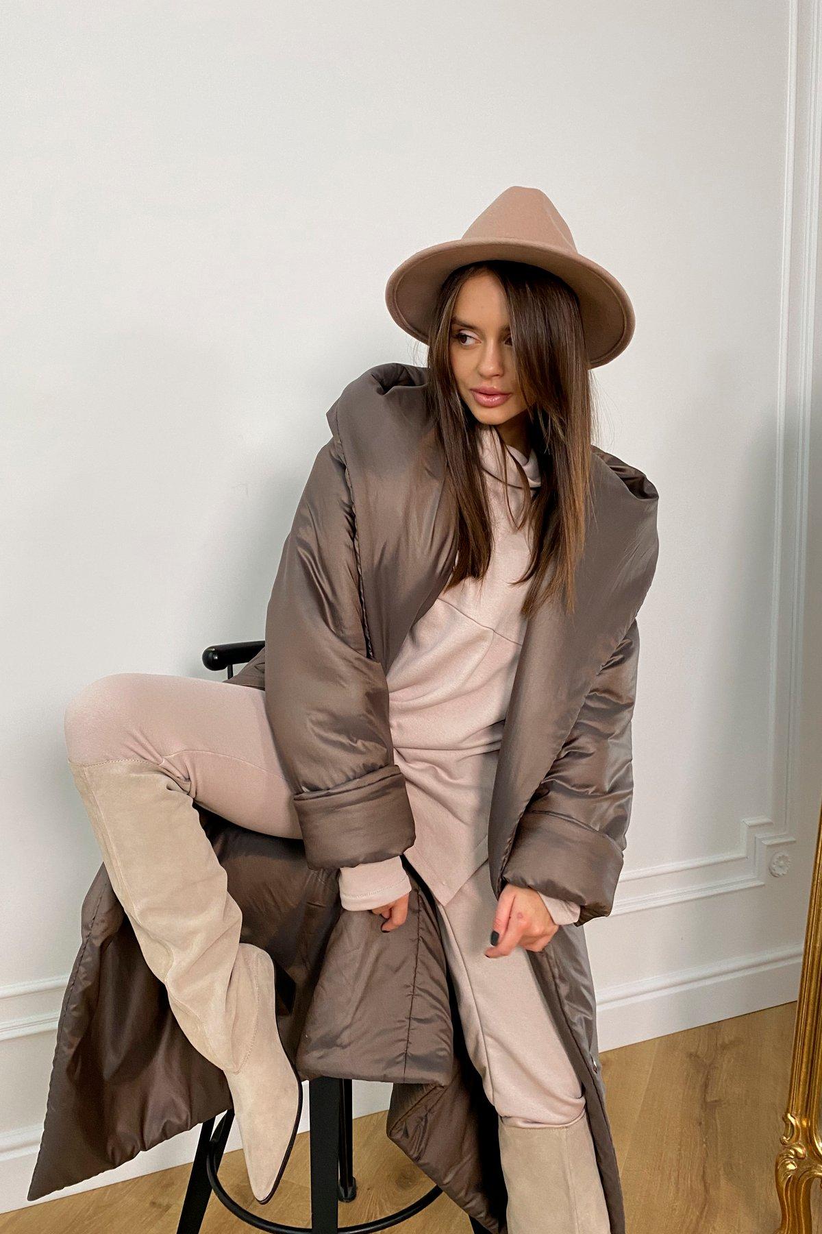 Берлин пальто зимнее из плащевой ткани, стеганое 10082 АРТ. 46395 Цвет: Шоколад/хамелеон - фото 7, интернет магазин tm-modus.ru