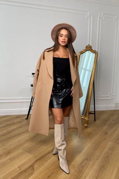 Купити Влада пальтовая ткань кашемир Турция зима Хомут пальто 10033 оптом і в роздріб