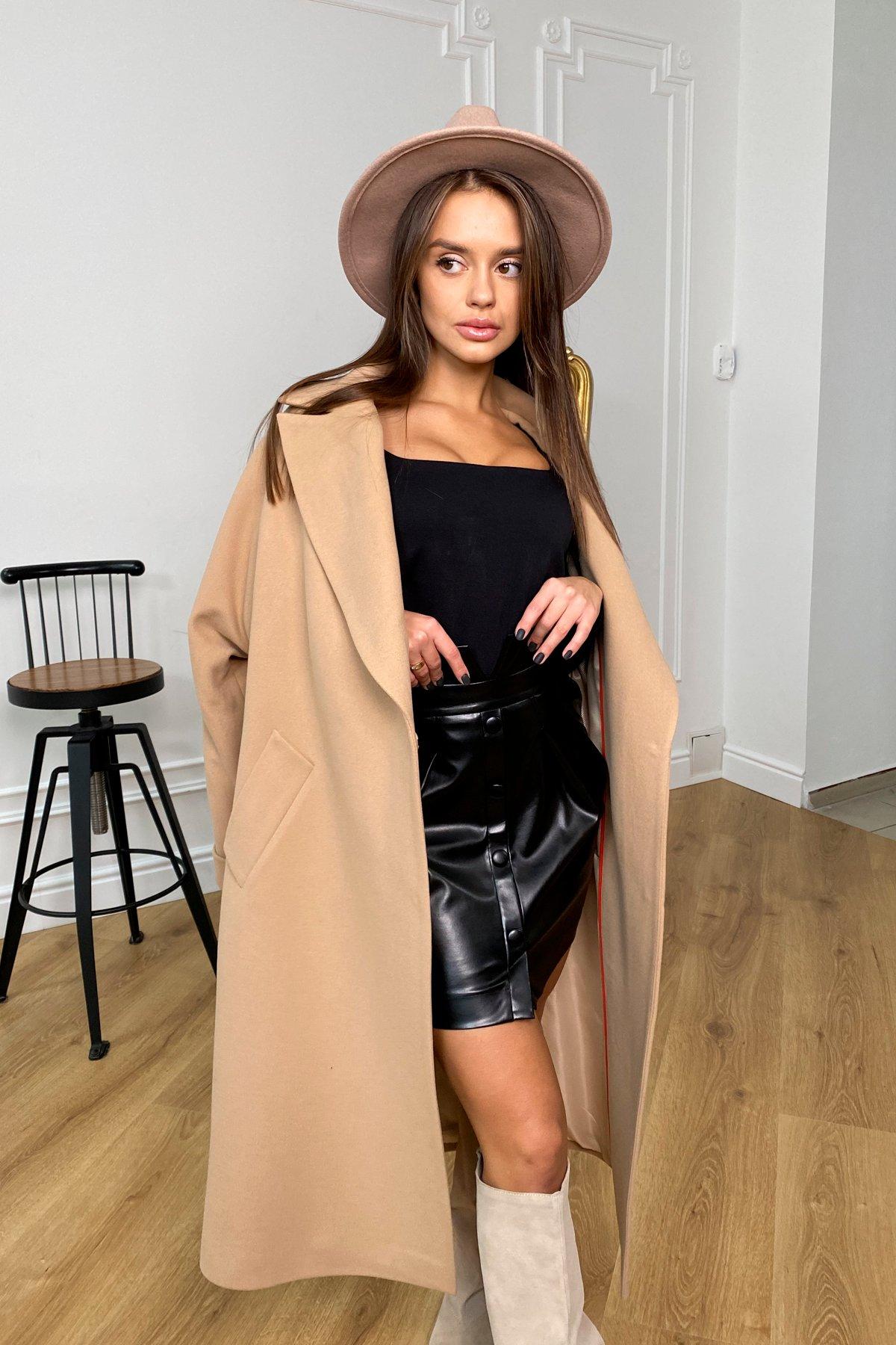 Влада зимнее пальто из кашемира с хомутом 10033 АРТ. 46334 Цвет: Кемел - фото 2, интернет магазин tm-modus.ru
