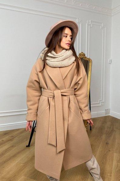 """Купить """"Влада"""" зимнее пальто из кашемира с хомутом 10033 оптом и в розницу"""
