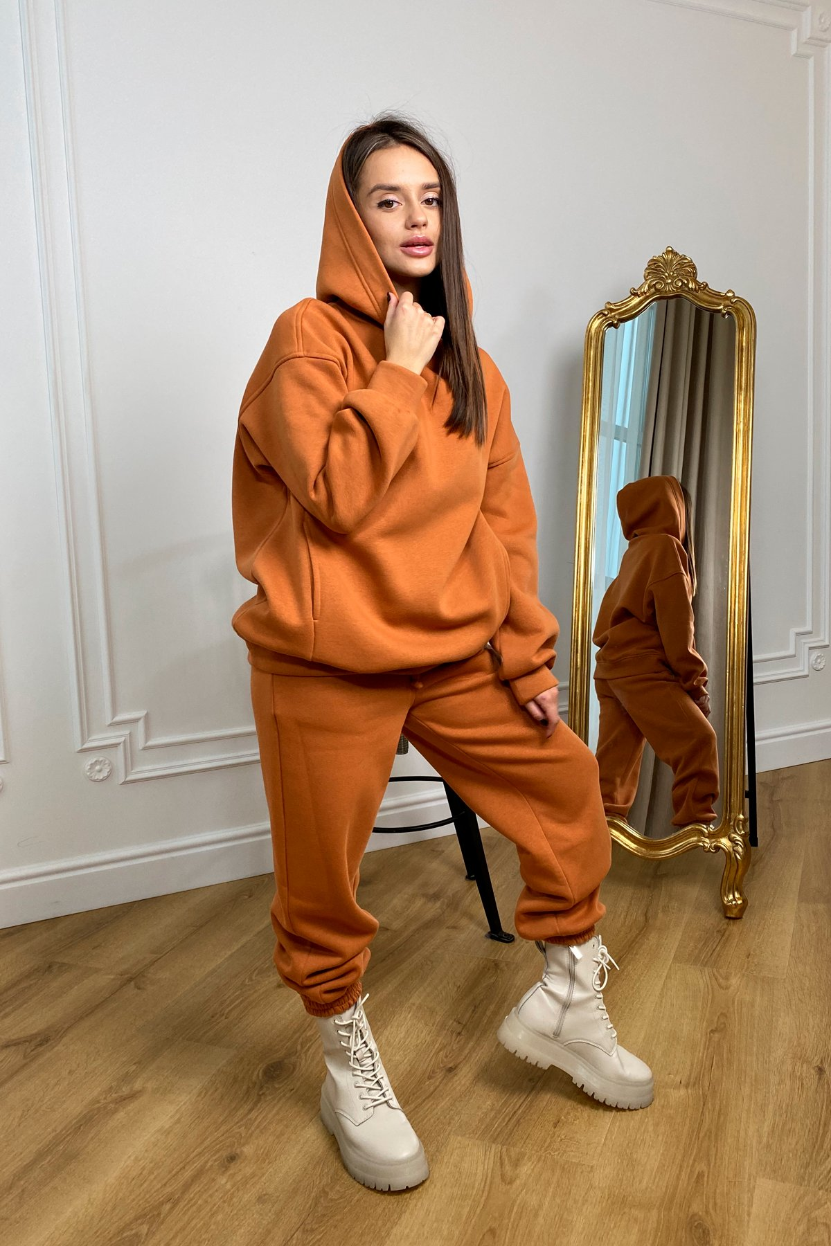 Марион костюм в  стиле Oversize  3х нитка 9651 АРТ. 46376 Цвет: Карамель/1 - фото 3, интернет магазин tm-modus.ru