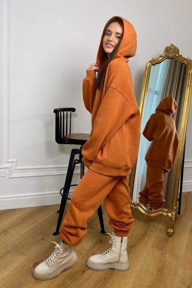Марион Oversize трикотаж 3х нитка с начесом костюм 9651 Цвет: Карамель/1