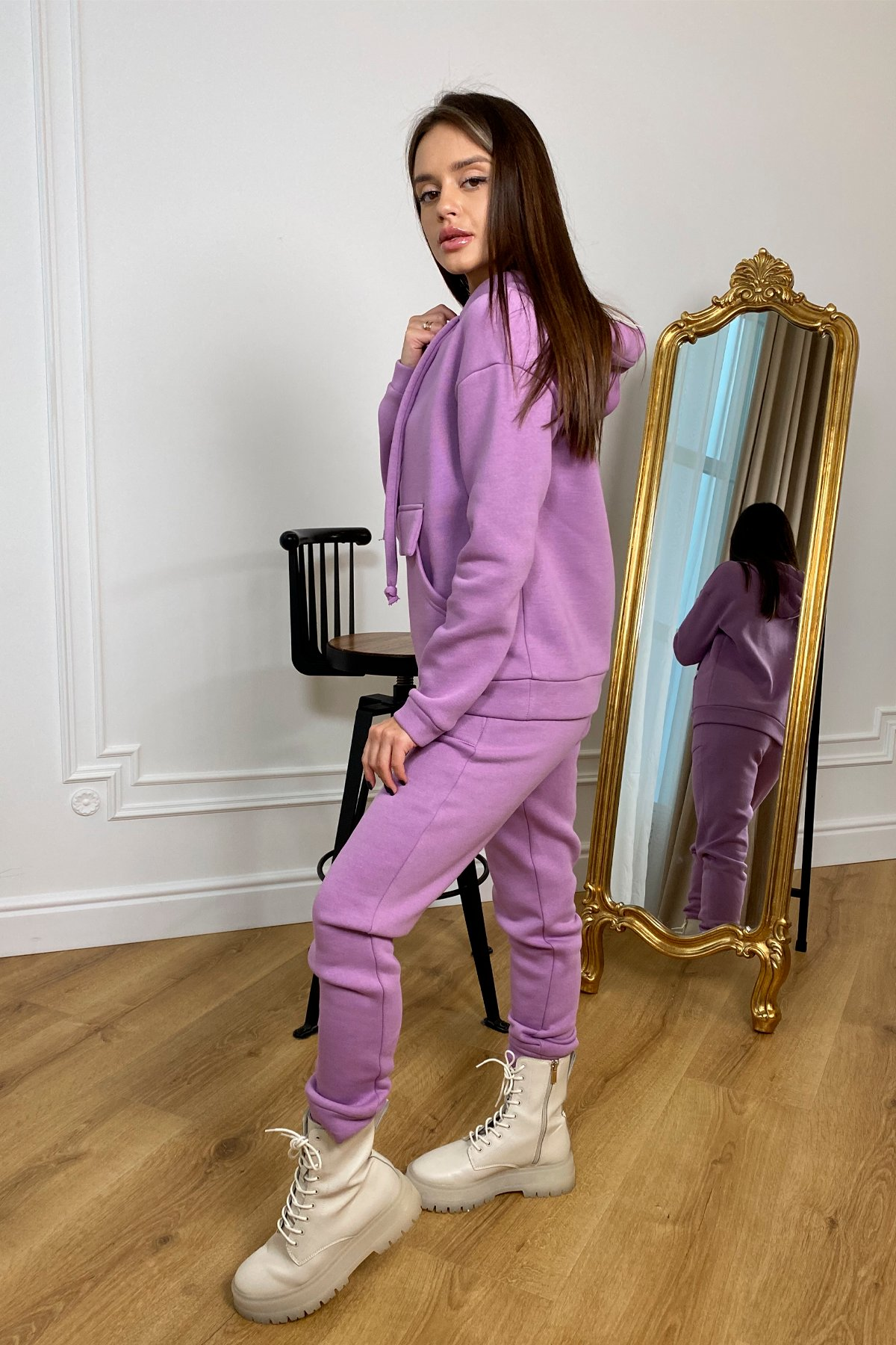 Бруклин  прогулочный костюм 3х нитка с начесом  9663 АРТ. 46382 Цвет: Лаванда/1 - фото 5, интернет магазин tm-modus.ru