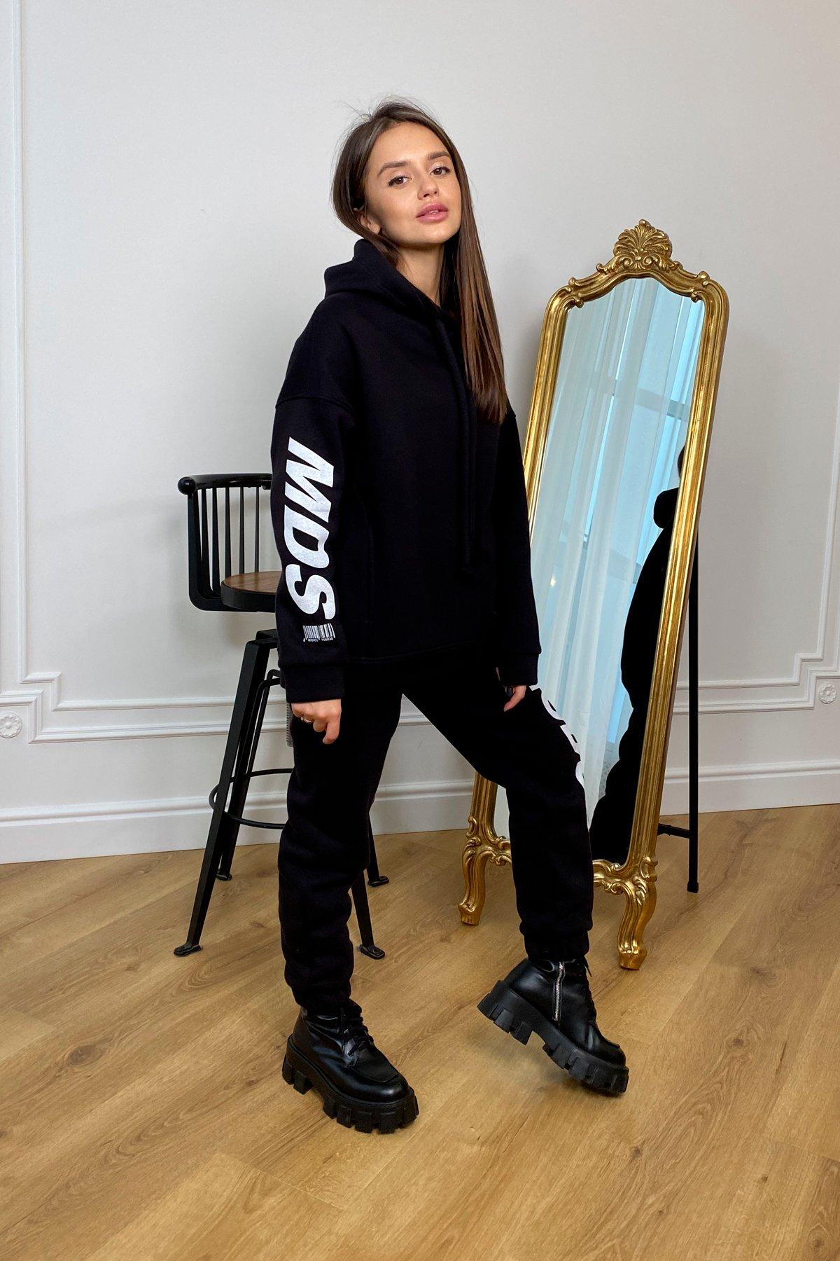 МДС трикотаж 3х нитка с начесом костюм 9986 АРТ. 46348 Цвет: Черный - фото 2, интернет магазин tm-modus.ru