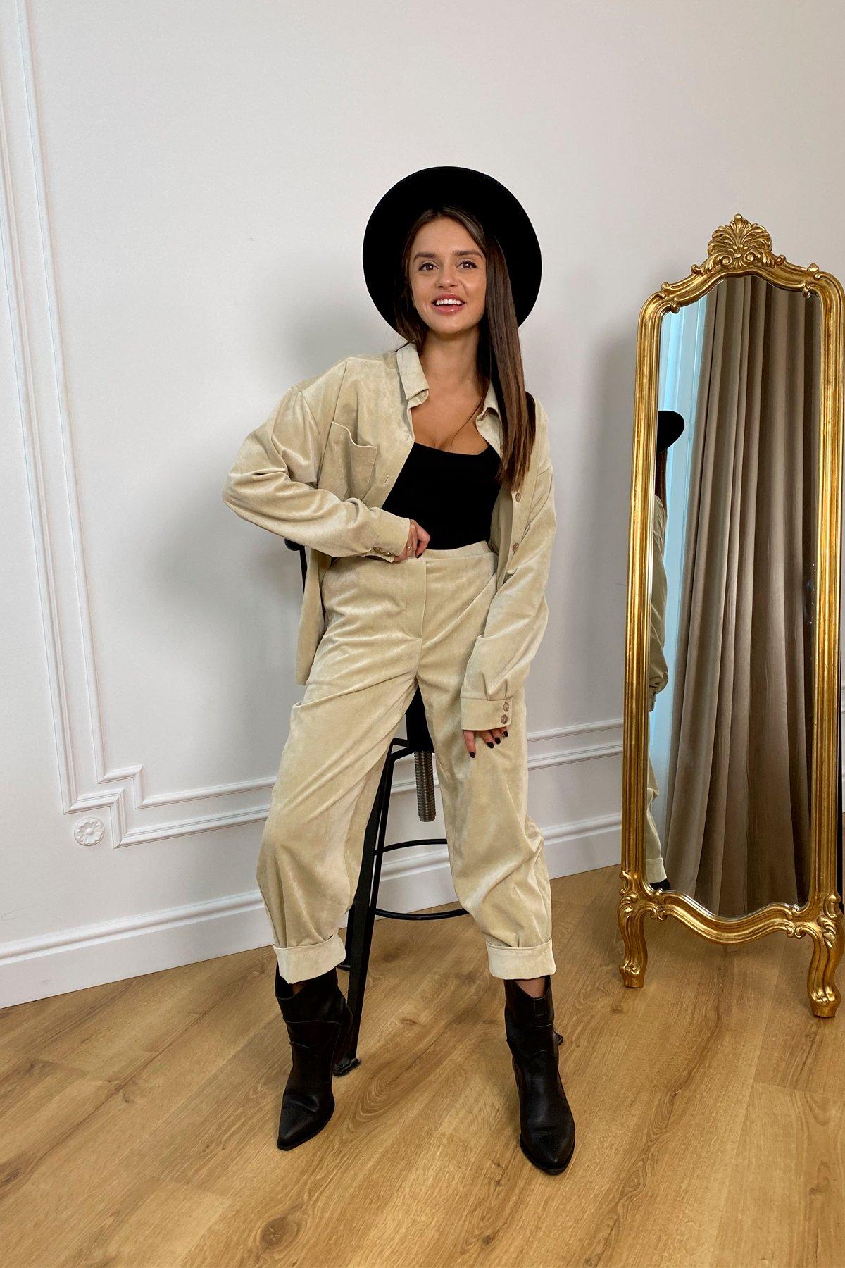 Женская одежда оптом от производителя Браво микровельвет костюм 9695