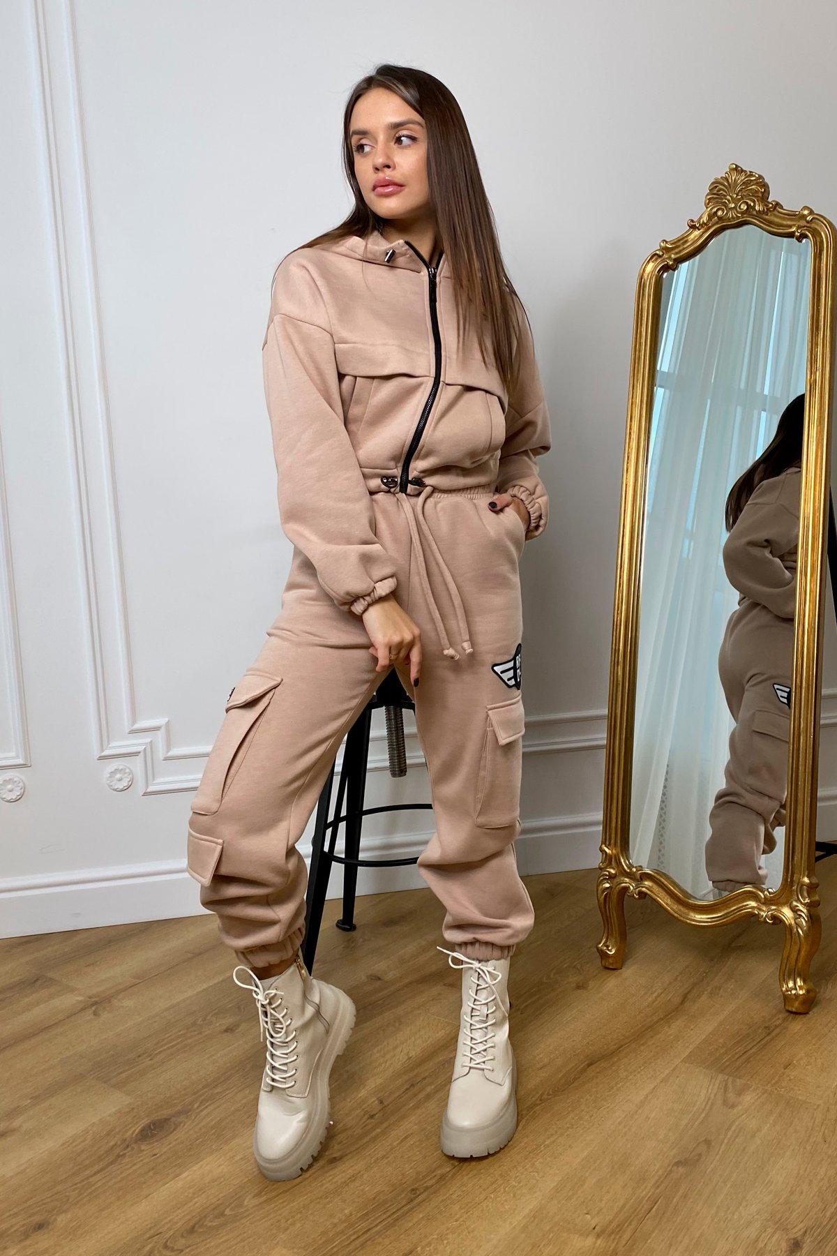 Кьюи  прогулочный костю 3х нитка с начесом 9933 АРТ. 46257 Цвет: Бежевый - фото 3, интернет магазин tm-modus.ru