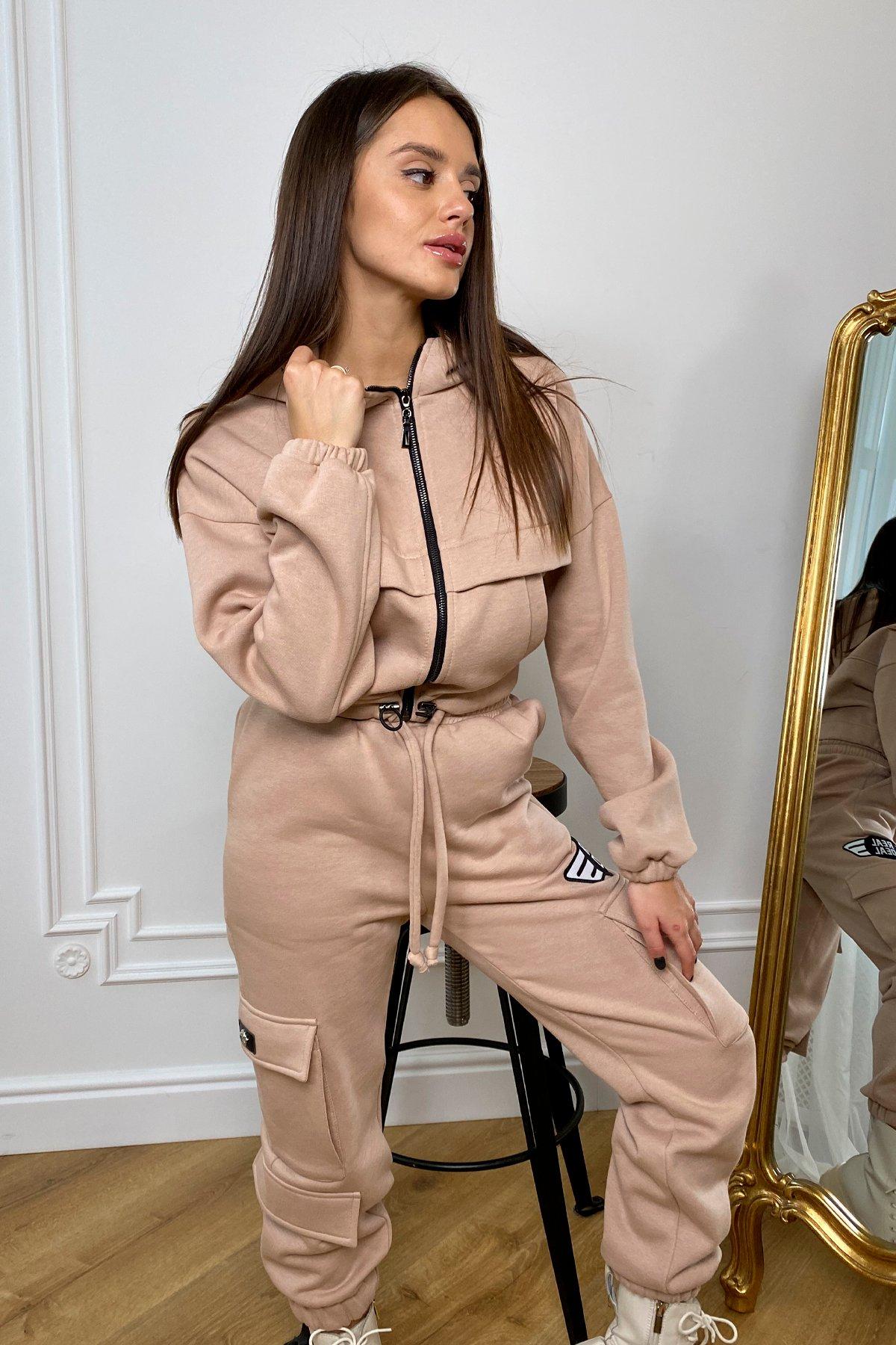 Кьюи  прогулочный костю 3х нитка с начесом 9933 АРТ. 46257 Цвет: Бежевый - фото 7, интернет магазин tm-modus.ru