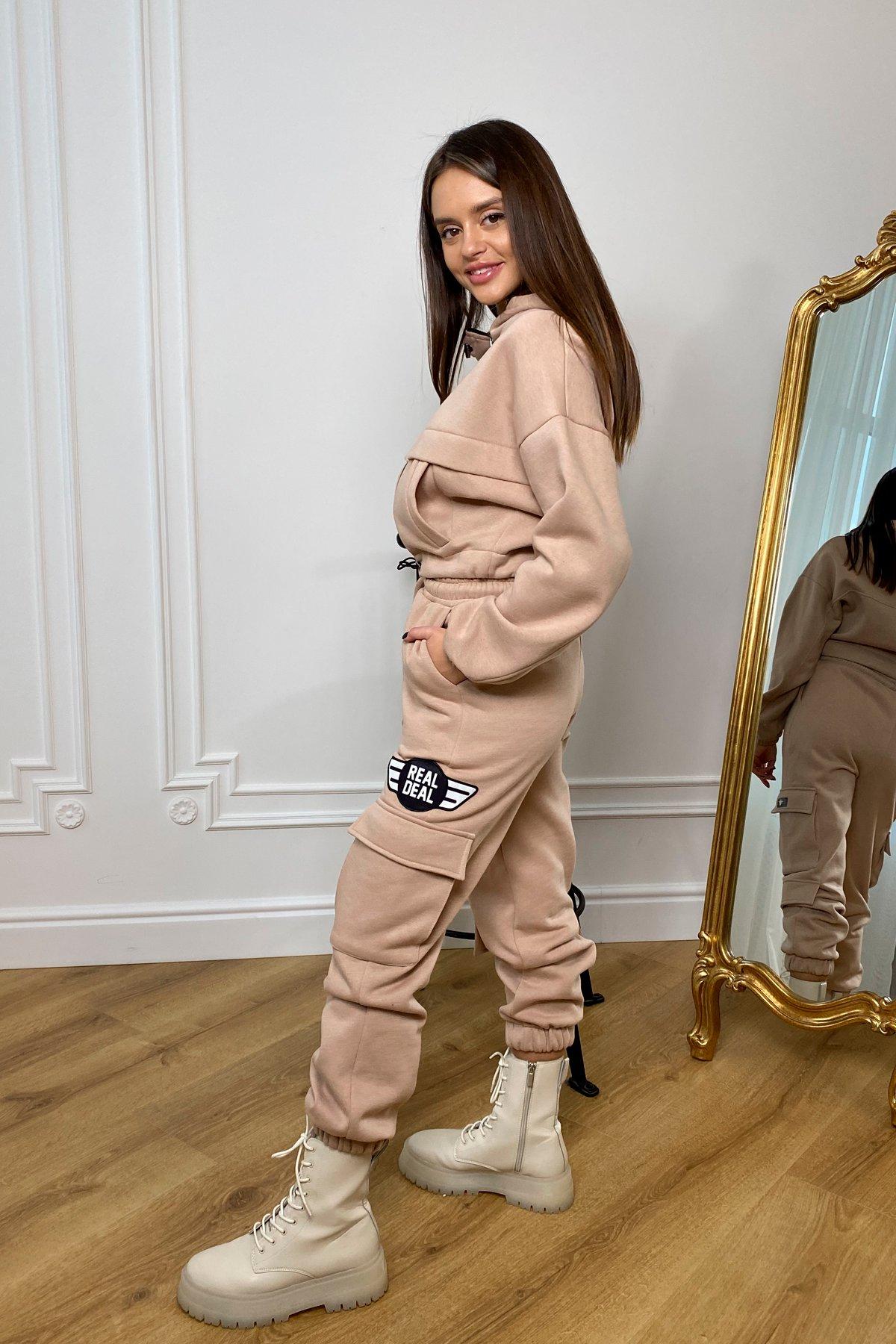 Кьюи  прогулочный костю 3х нитка с начесом 9933 АРТ. 46257 Цвет: Бежевый - фото 9, интернет магазин tm-modus.ru