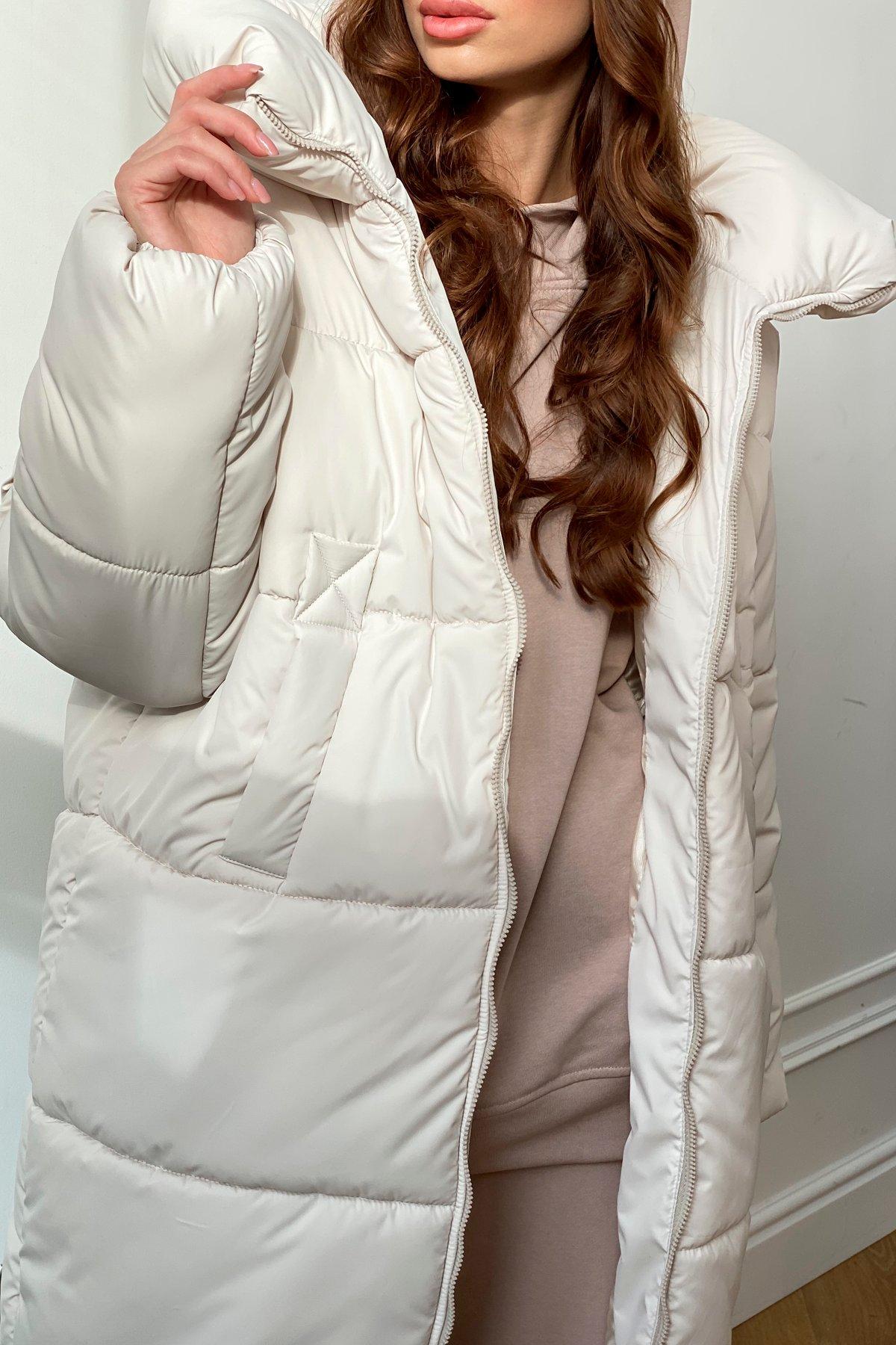 Френд  теплый пуховик из плащевой ткани 10101 АРТ. 46402 Цвет: Молоко - фото 2, интернет магазин tm-modus.ru