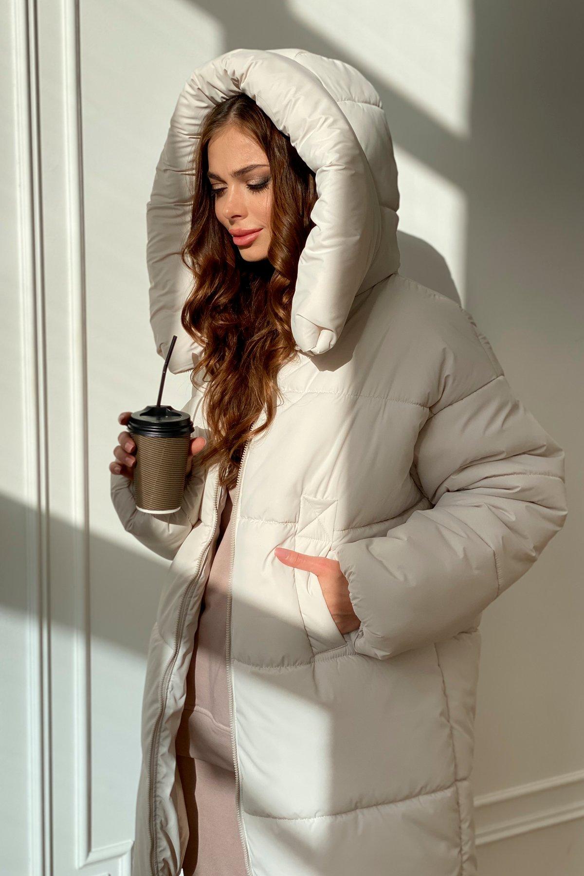 пуховики женские производитель Украина Френд  теплый пуховик из плащевой ткани 10101