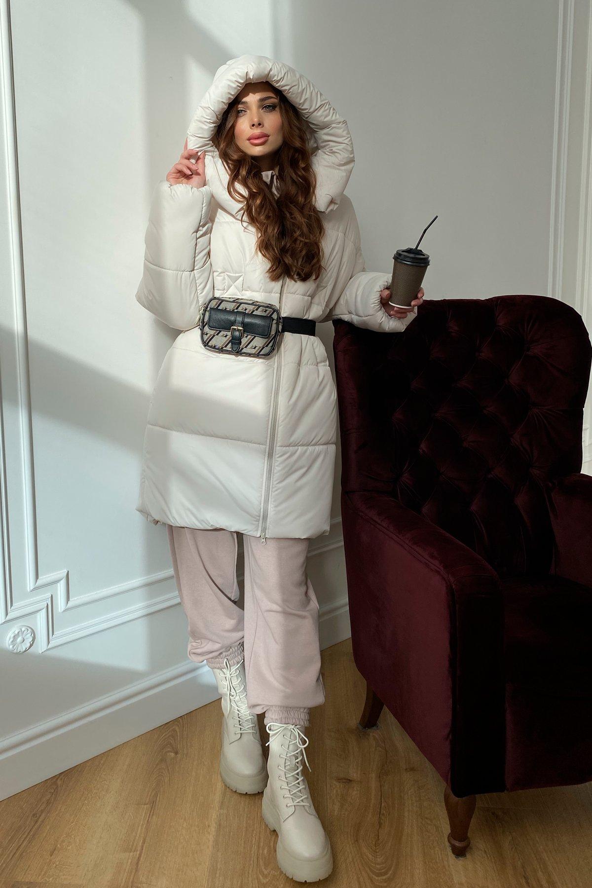 Френд  теплый пуховик из плащевой ткани 10101 АРТ. 46402 Цвет: Молоко - фото 7, интернет магазин tm-modus.ru