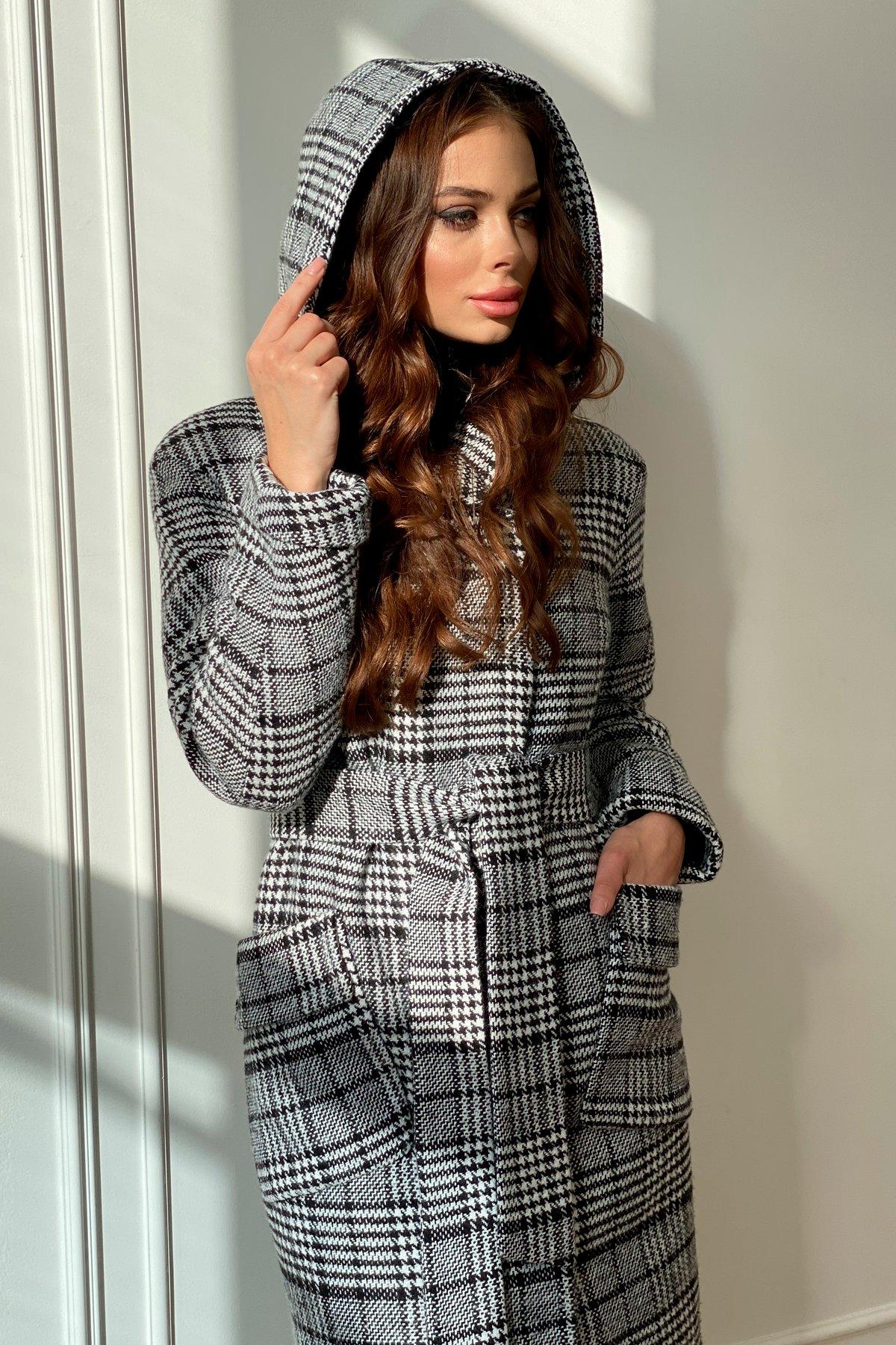 Зимнее пальто в стильную клетку Анджи 8276 АРТ. 44841 Цвет: Клетка чер/бел - фото 4, интернет магазин tm-modus.ru