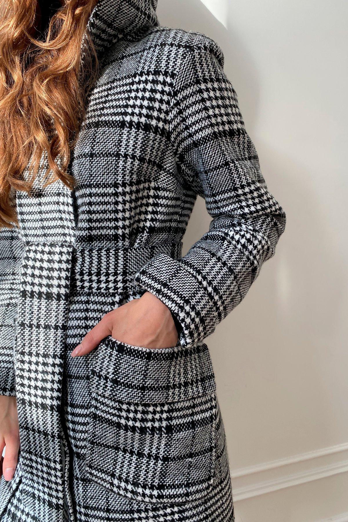 Зимнее пальто в стильную клетку Анджи 8276 АРТ. 44841 Цвет: Клетка чер/бел - фото 5, интернет магазин tm-modus.ru