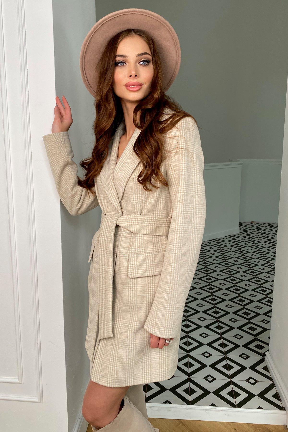 Купить женское пальто от Modus Корси клетка комби пальтовая ткань пальто 9893