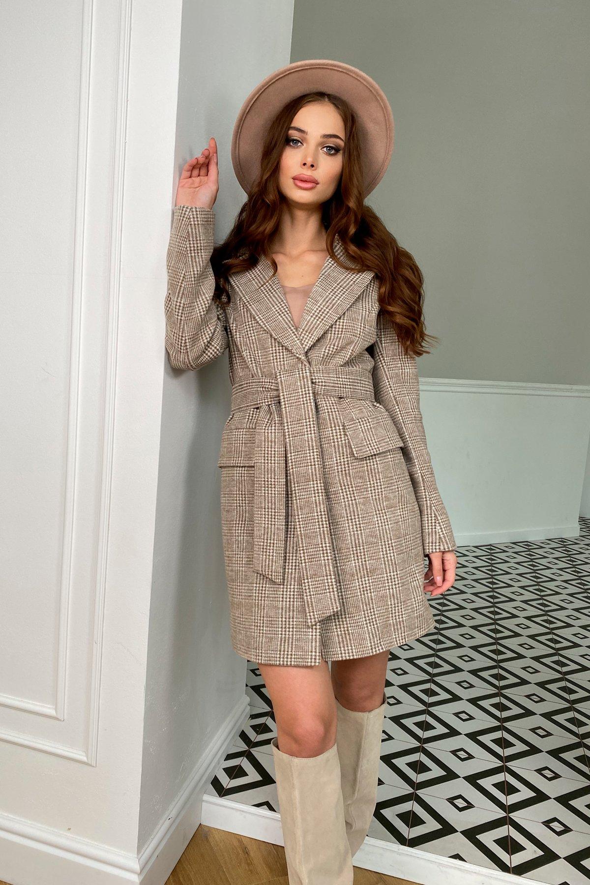 Модные женские пальто от Modus Корси клетка комби пальтовая ткань пальто 9893