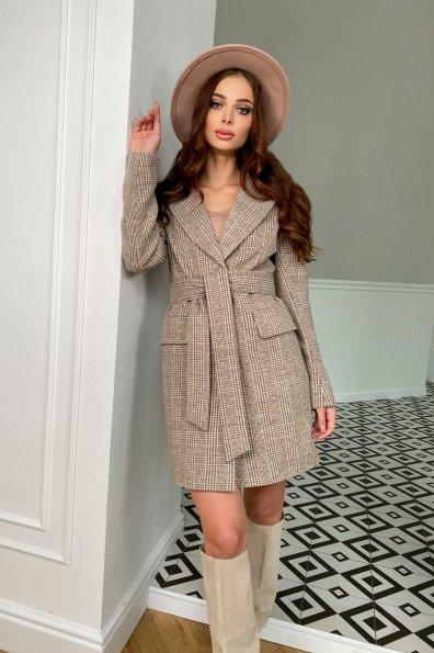 Купить Корси клетка комби пальтовая ткань пальто 9893 оптом и в розницу