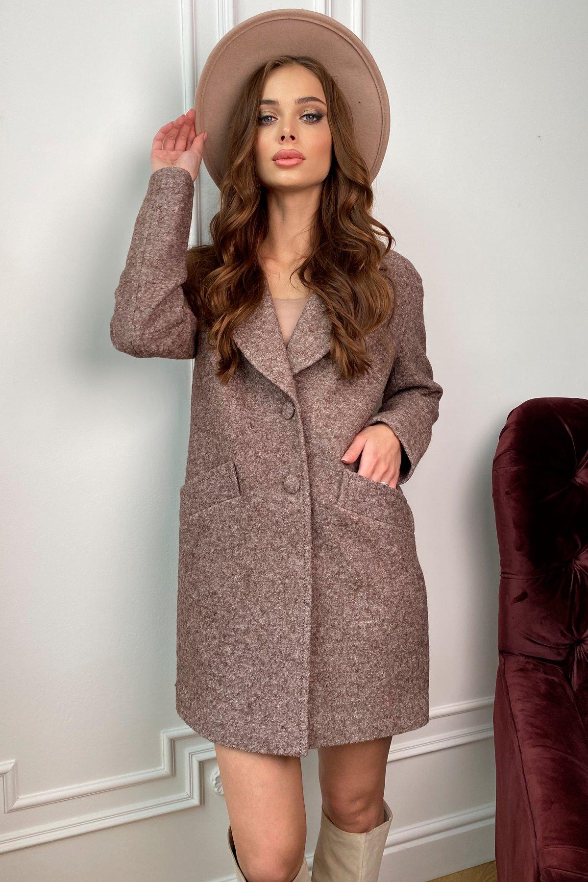 Вейсона шерсть варенка пальто 9825 АРТ. 46106 Цвет: Кофе - фото 3, интернет магазин tm-modus.ru