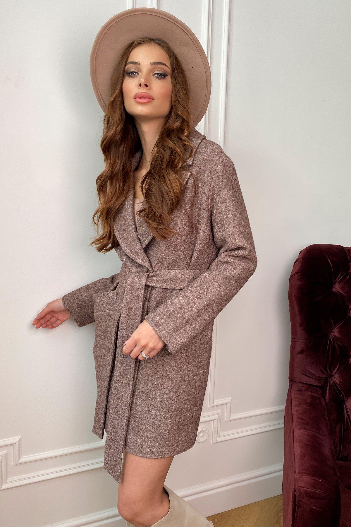 Вейсона шерсть варенка пальто 9825 АРТ. 46106 Цвет: Кофе - фото 5, интернет магазин tm-modus.ru