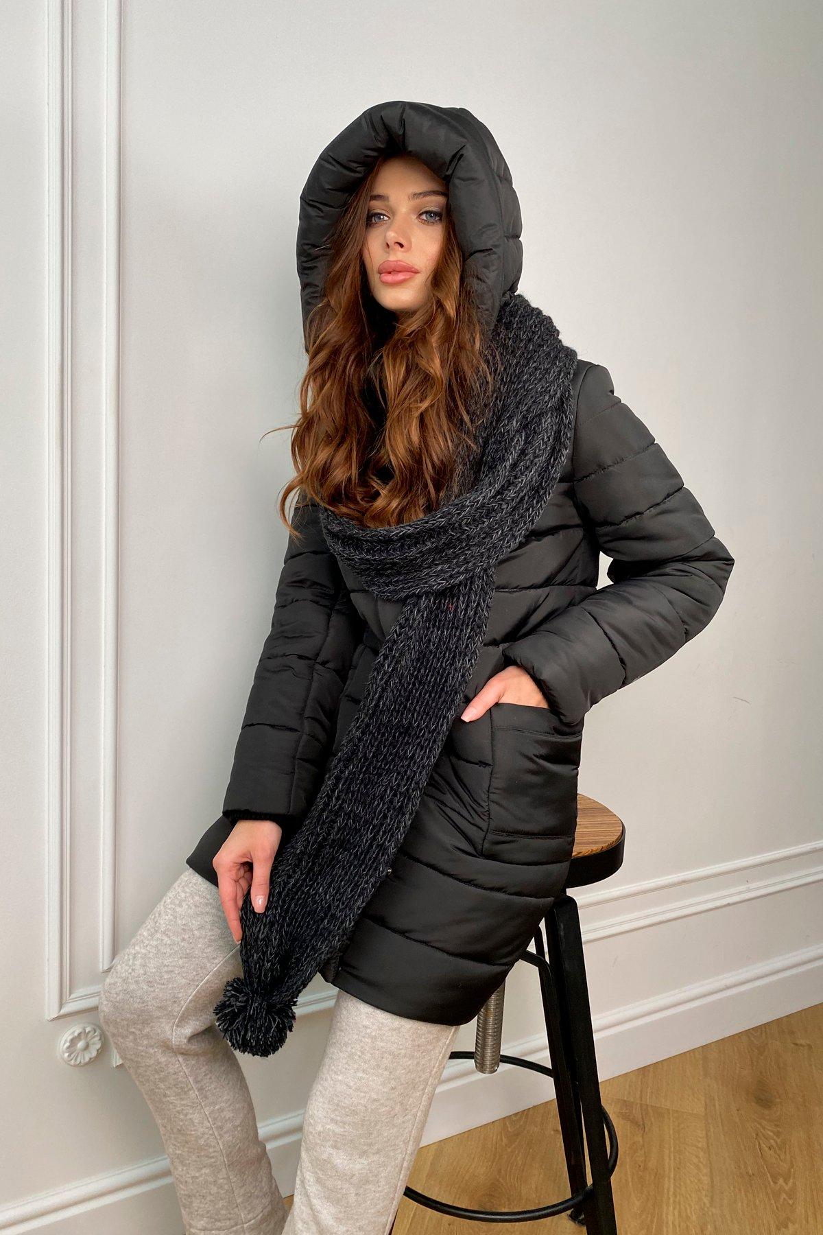купить женский пуховик в Украине Пуховик с меховыми карманами Лили 8593
