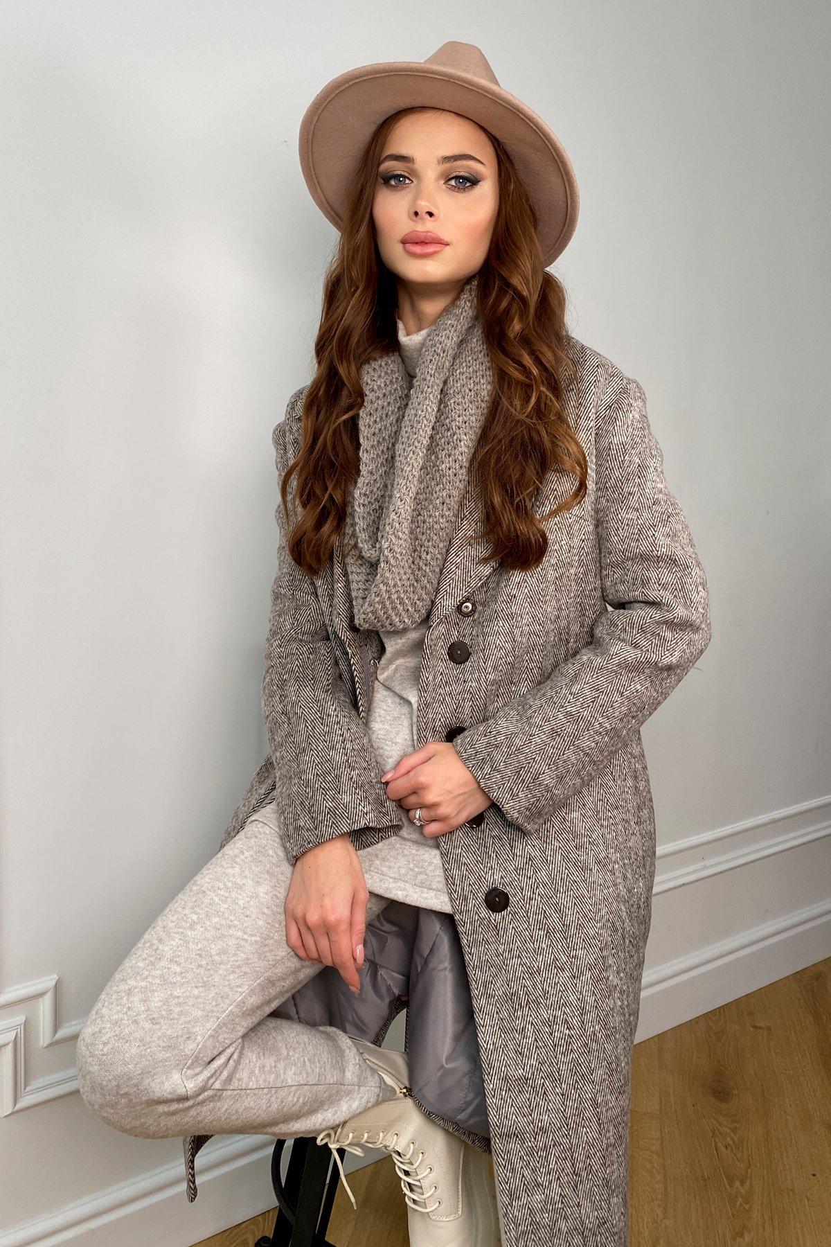 Зимнее пальто полуприталенного кроя Севен 8262 АРТ. 44330 Цвет: шоколад/молоко - фото 1, интернет магазин tm-modus.ru