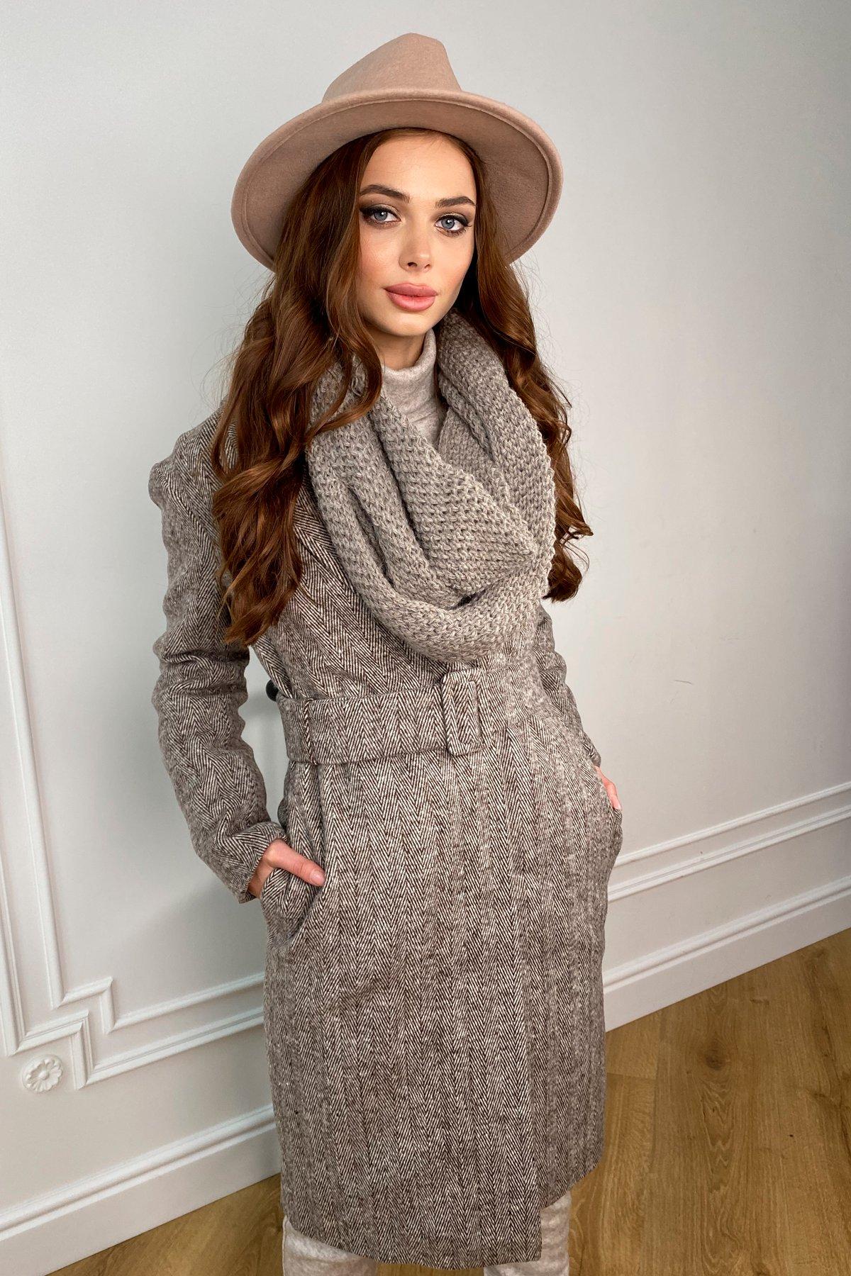 Зимнее пальто полуприталенного кроя Севен 8262 АРТ. 44330 Цвет: шоколад/молоко - фото 4, интернет магазин tm-modus.ru