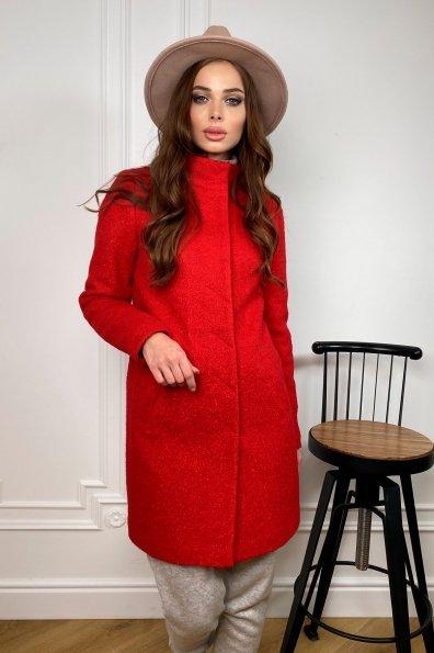 Пальто зима шерсть букле Фортуна 8508 Цвет: Красный