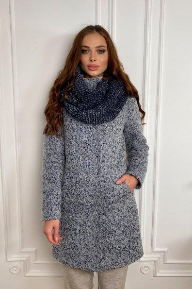 Пальто зима шерсть букле Фортуна 8508 Цвет: Серо-голубой
