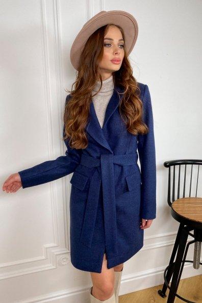Купить Корси кашемир меланж на трикотаже пальто 9827 оптом и в розницу