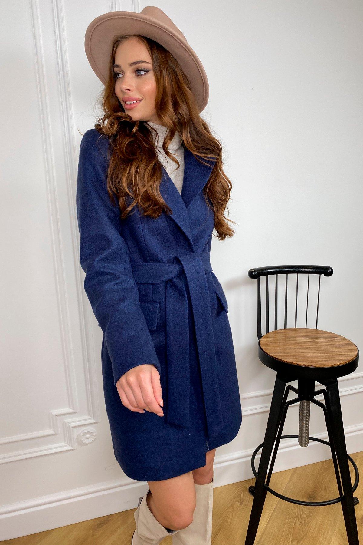 Корси кашемир меланж на трикотаже пальто 9827 АРТ. 46114 Цвет: Т.синий - фото 4, интернет магазин tm-modus.ru