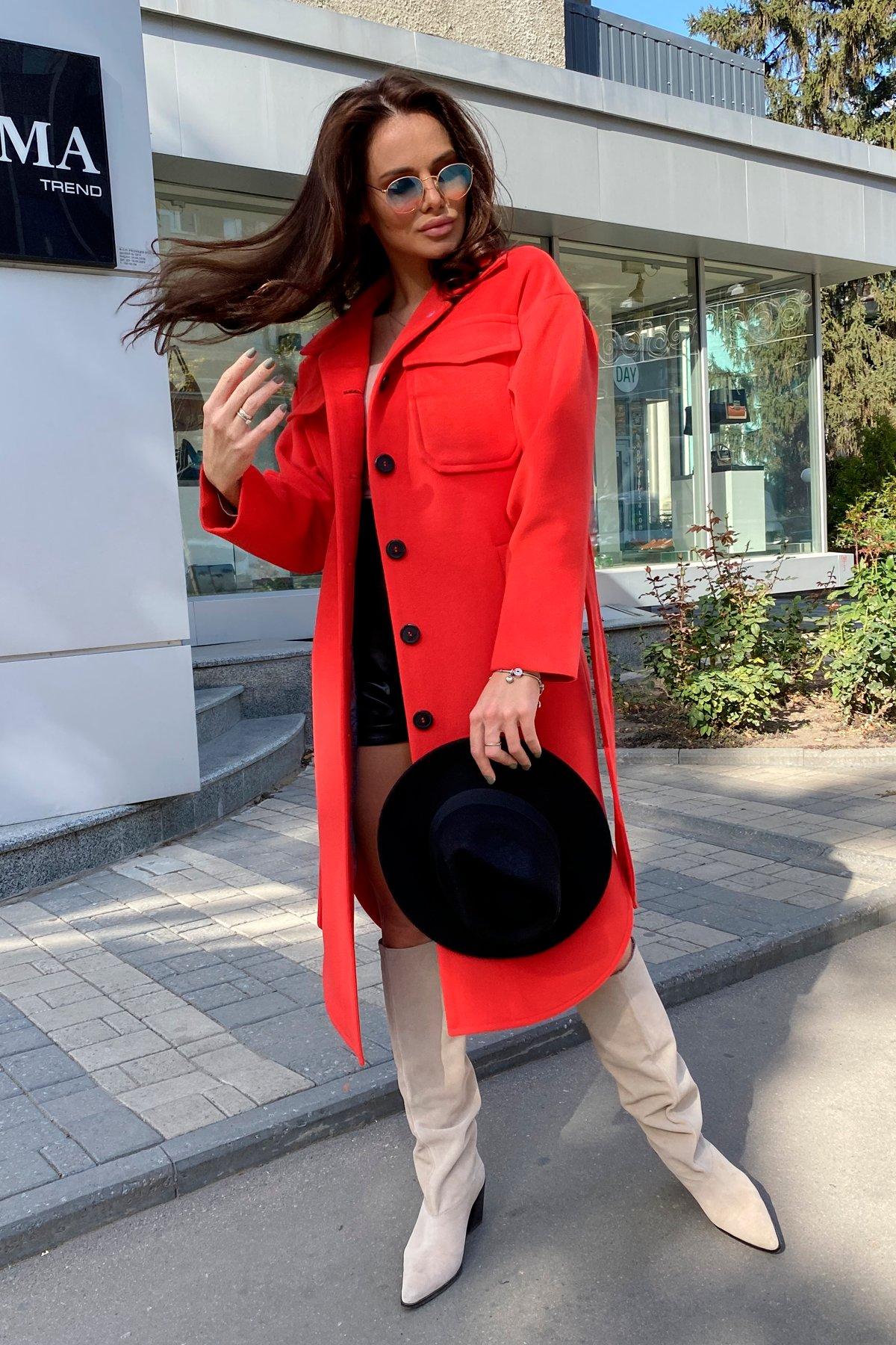 Ола  зимнее  пальто из гладкого кашемира 9987 АРТ. 46284 Цвет: Красный - фото 3, интернет магазин tm-modus.ru