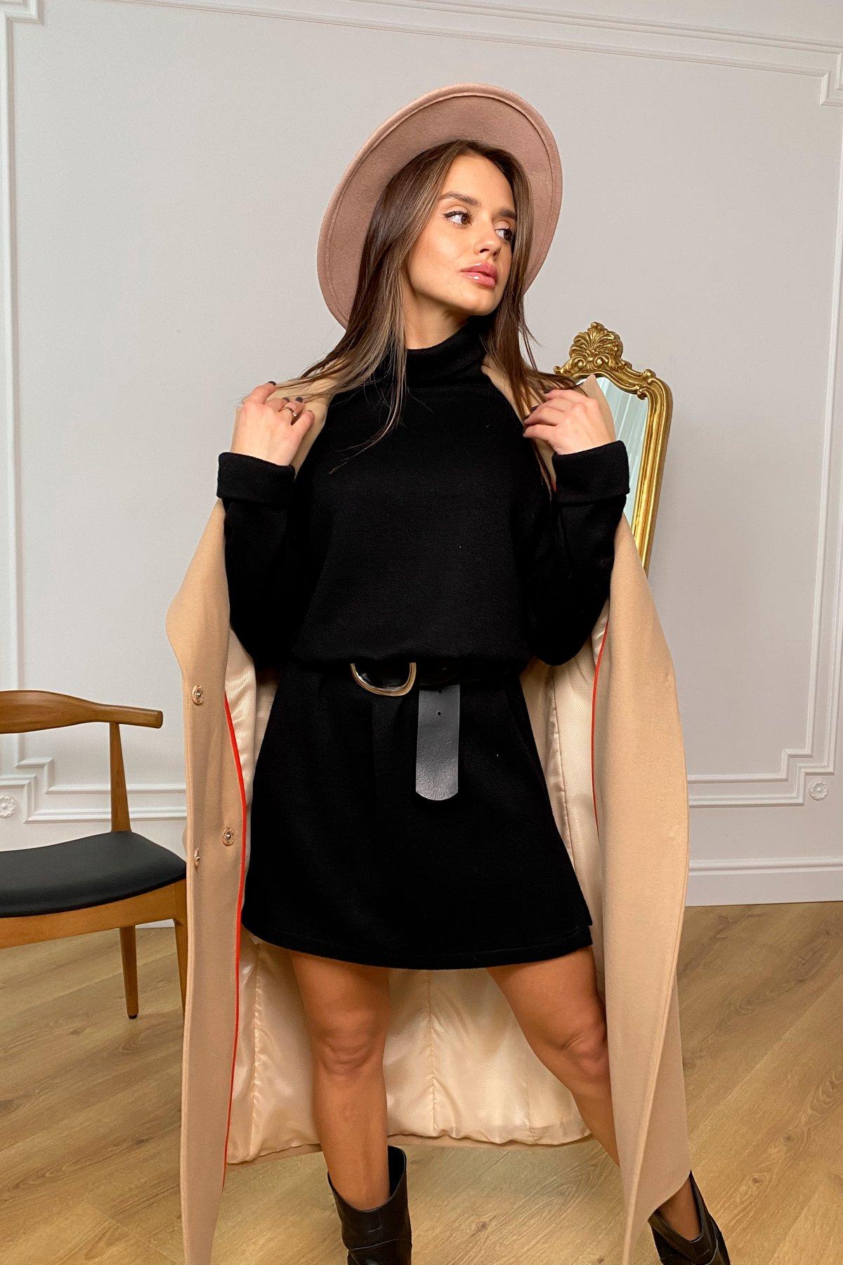 Дресса трикотаж ангора платье 10129 АРТ. 46428 Цвет: Черный - фото 6, интернет магазин tm-modus.ru
