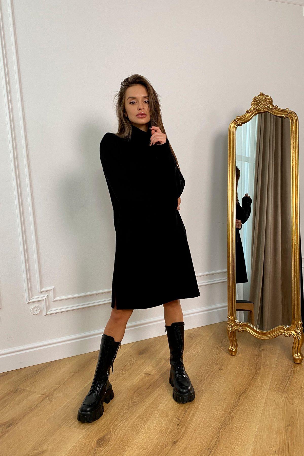 Дресса трикотаж ангора платье 10129 АРТ. 46428 Цвет: Черный - фото 8, интернет магазин tm-modus.ru