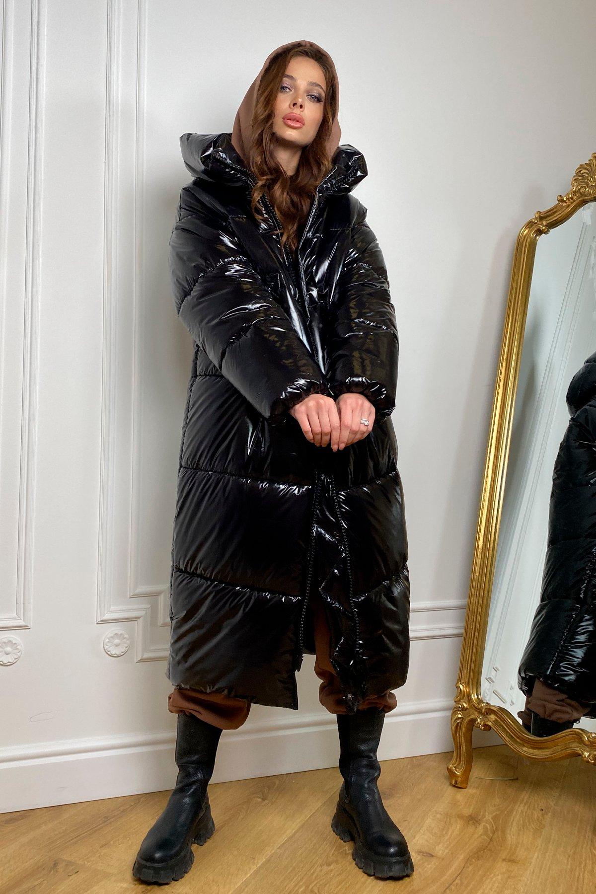 Макс теплый пуховик из плащевки  монклер 10116 АРТ. 46416 Цвет: Черный - фото 5, интернет магазин tm-modus.ru
