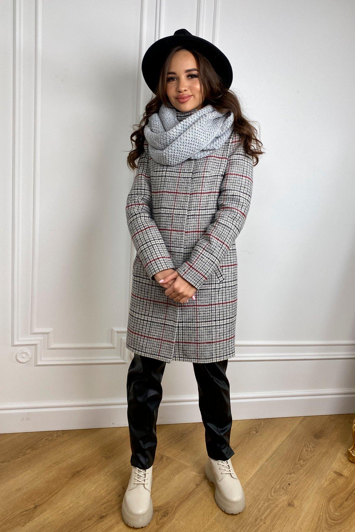 Купить женское зимнее пальто в Украине Modus Пальто зима Фортуна 8317 в клетку
