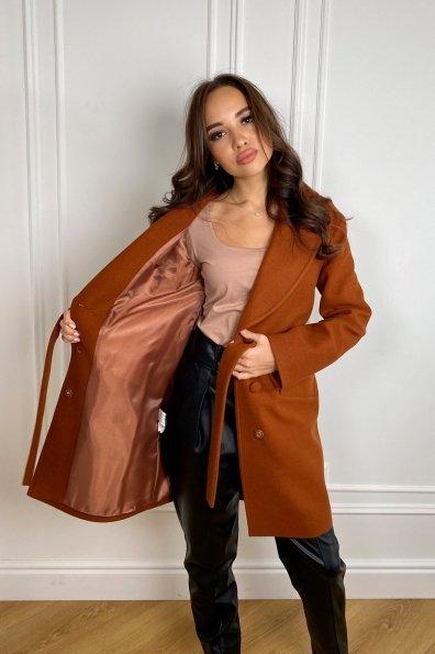 Вейсона кашемир на трикотаже пальто 9866 Цвет: Охра